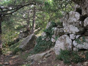 Циклопічна кладка зовнішньої стіни Римської фортеці Харакс
